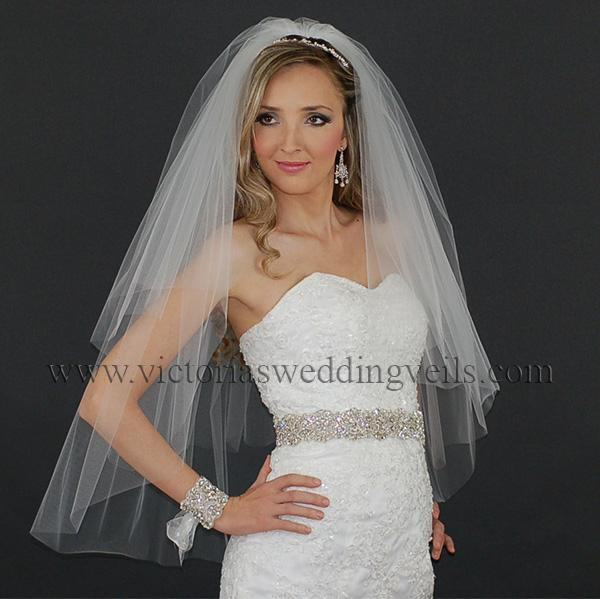 bridal veil cut edge