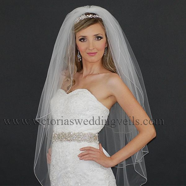 three tiers bridal veil