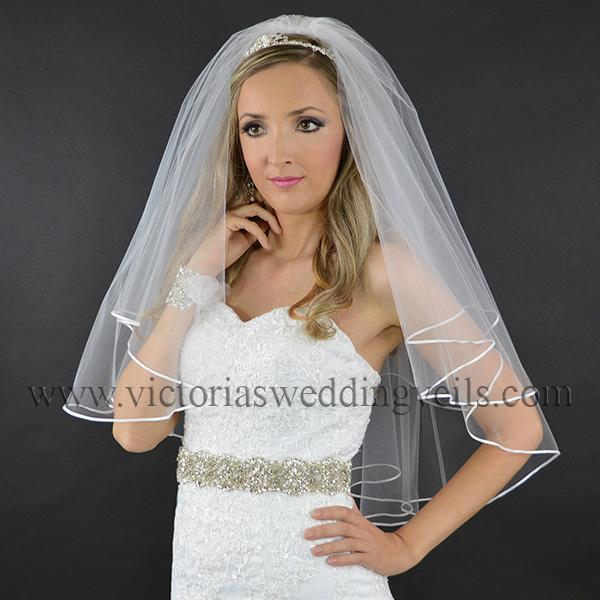 wedding veil 1/8 ribbon