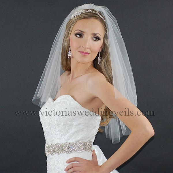 cut edge veil bridal accessories