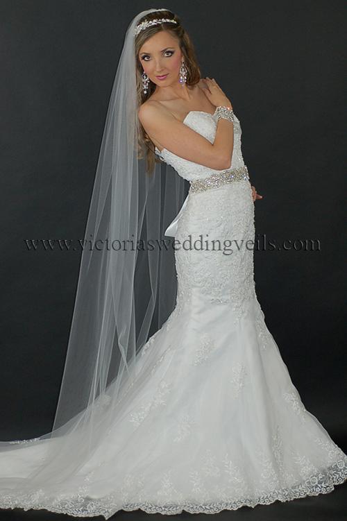 long bridal veil cut edge
