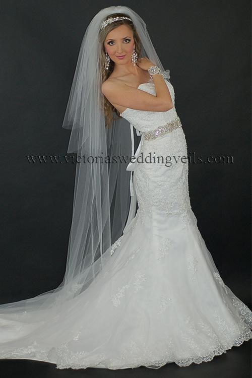three tier floor long bridal veil