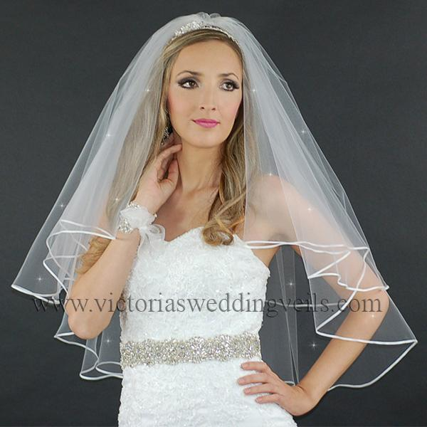 bridal veil ribbon edge