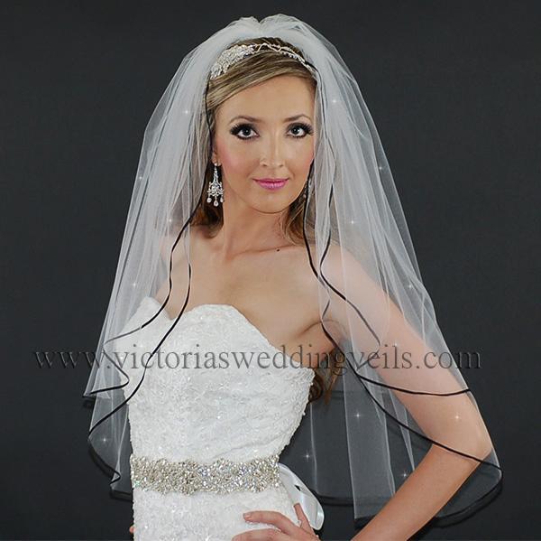 black bridal veil