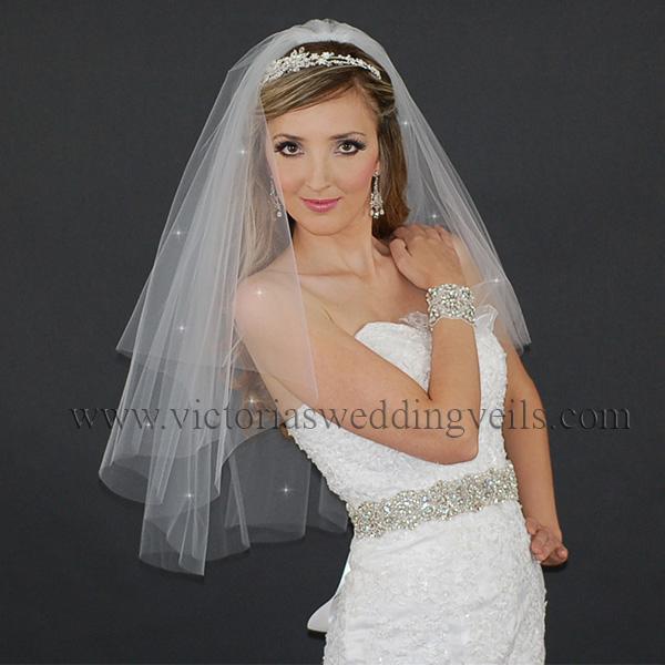 cut edge veil bridal accessories