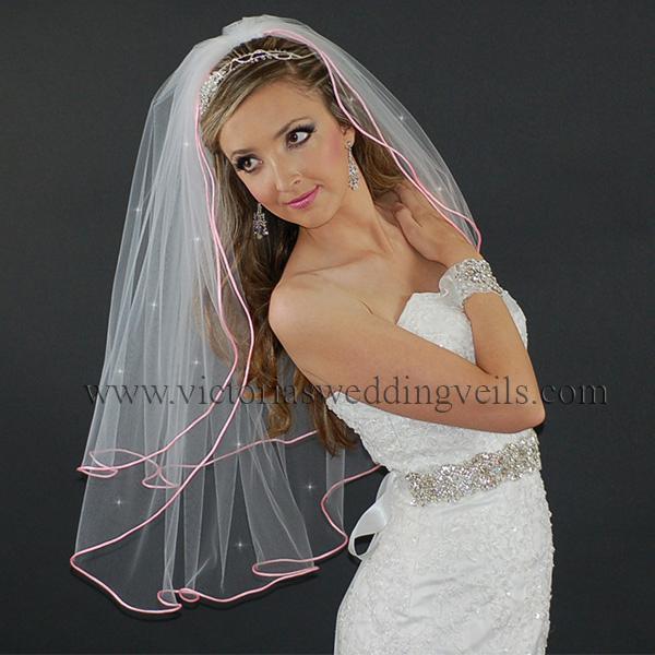pink bridal veil