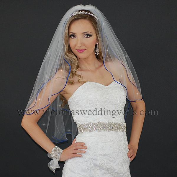 blue cord edge bridal accessories