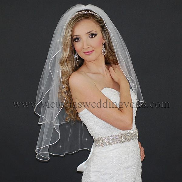 cord edge wedding veil