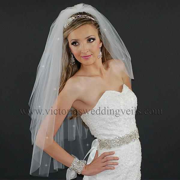 wedding veil cut edge