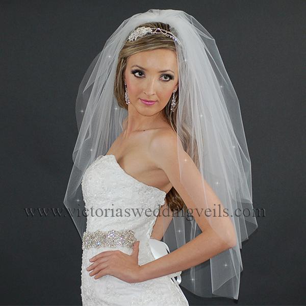 3 tier bridal veil