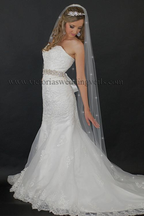 long bridal veil cut edge