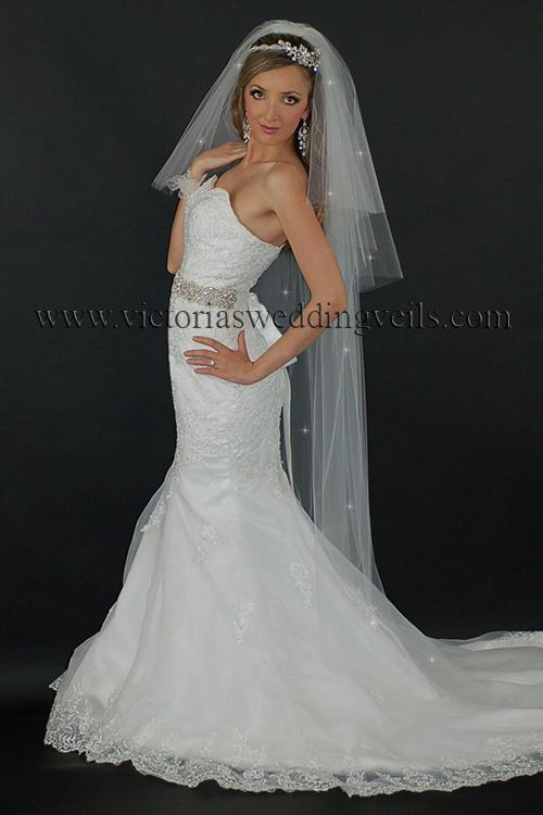 three tier floor long bridal veil