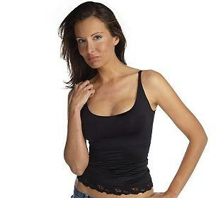 NWT-Spanx-Hide-Sleek-Camisole-Lace-Trim-177-Black-Ivory-U-Pick-Size-Color