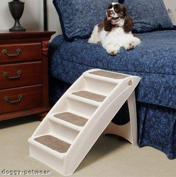 Solvit Light Folding Pet Stairs Small Dog Cat Pup Step Plus Steps No Slip Treads