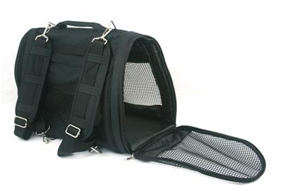 Dog Pet Cat Backpack Carrier Airline Approved Black Heavy