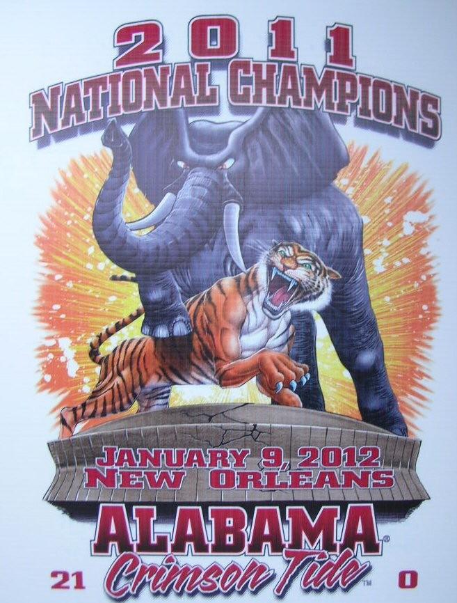 2011 NCAA National Champions Alabama Crimson Tide LSU Tigers T Shirt s M L XL