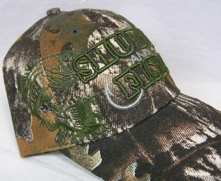 Shut up fish cap fishing bass hat camo outdoor sports for Camo fishing hat
