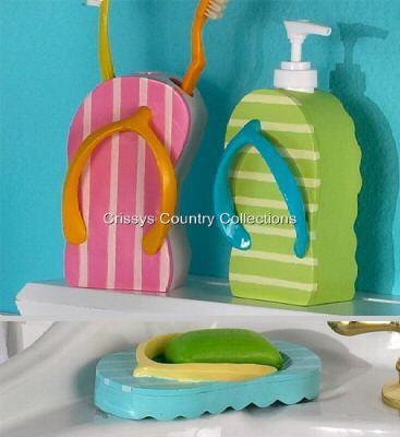 Beach sandal flipflop toilet paper roll storage cabinet - Beach toilet paper holder ...