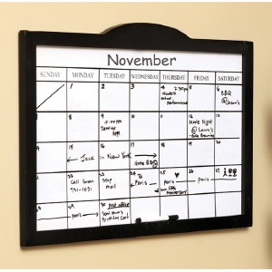 Details about Black Wooden Whiteboard Calendars Wall Organizer New