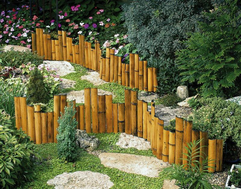 New Genuine Bamboo Garden Border Edging Flower Beds Ebay