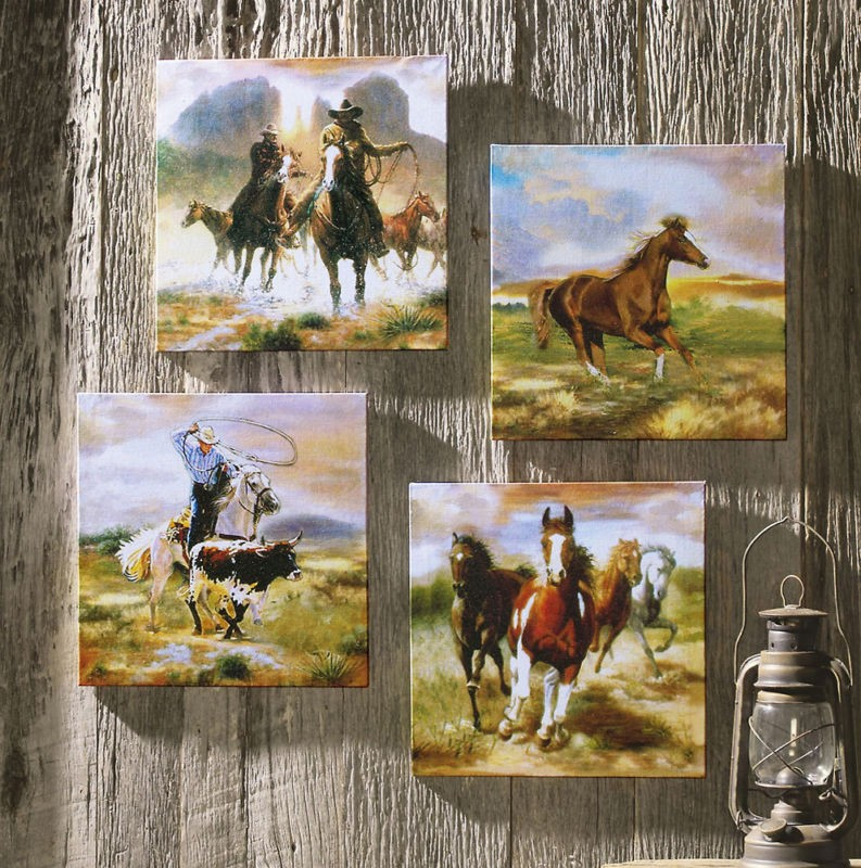 Wild Mustang Horses Rustic Western Decor Window Valance Curtains 72 ...