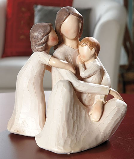 Mother and children willow tree design family figurine