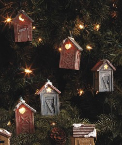 Rustic Indoor String Lights : Rustic Cabin Lodge Outhouse String of Lights Indoor or Outdoor Decor 9 Ft NEW eBay