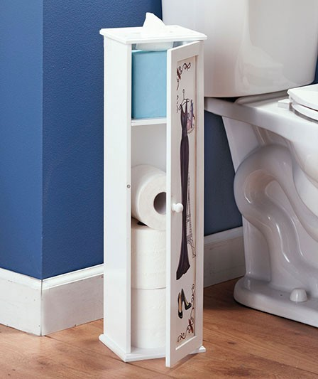 glam girl bathroom storage cabinet toilet paper holder cosmetic organizer new. Black Bedroom Furniture Sets. Home Design Ideas