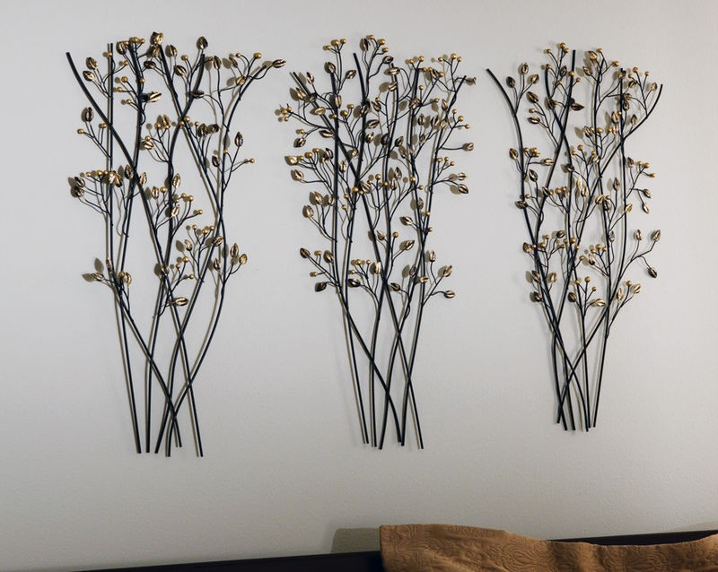 Tree Branch Wall Decor Metal : Set of tree branch bundles iron metal wall art quot new