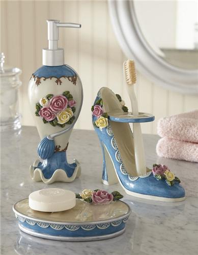 Victorian ivory crocheted madallion tassled valance new ebay for Victorian bathroom accessories set
