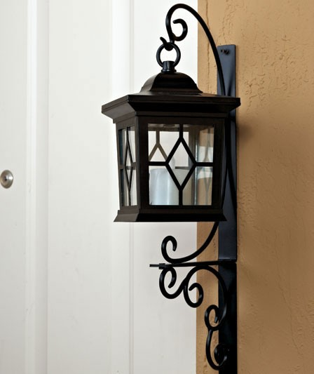 Outdoor Candle Wall Lights : Solar LED Candle Sconce Outdoor Wall Lighting Fixture NEW eBay