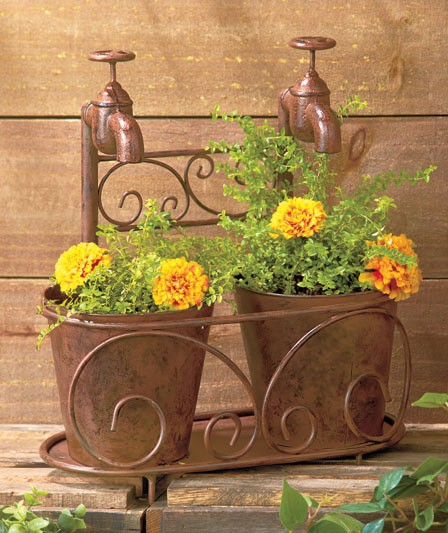Rustic Vintage Old Fashioned Faucet Wall Hooks Or Planters