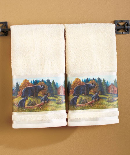 Moose Bath Rug: Lodge Cabin Country Rustic Wilderness Black Bear Bathroom