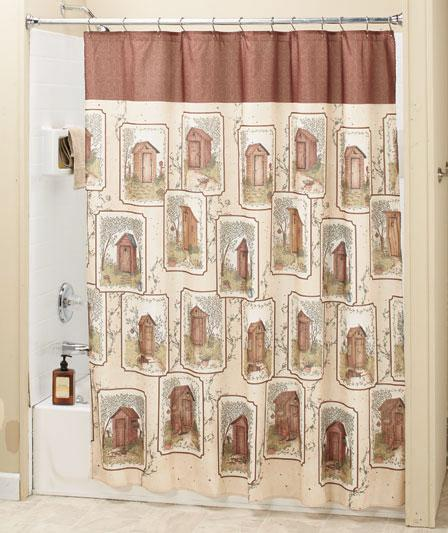 Linda Spivey Country Outhouse Fabric Shower Curtain Rustic Cabin Lodge Decor New Ebay