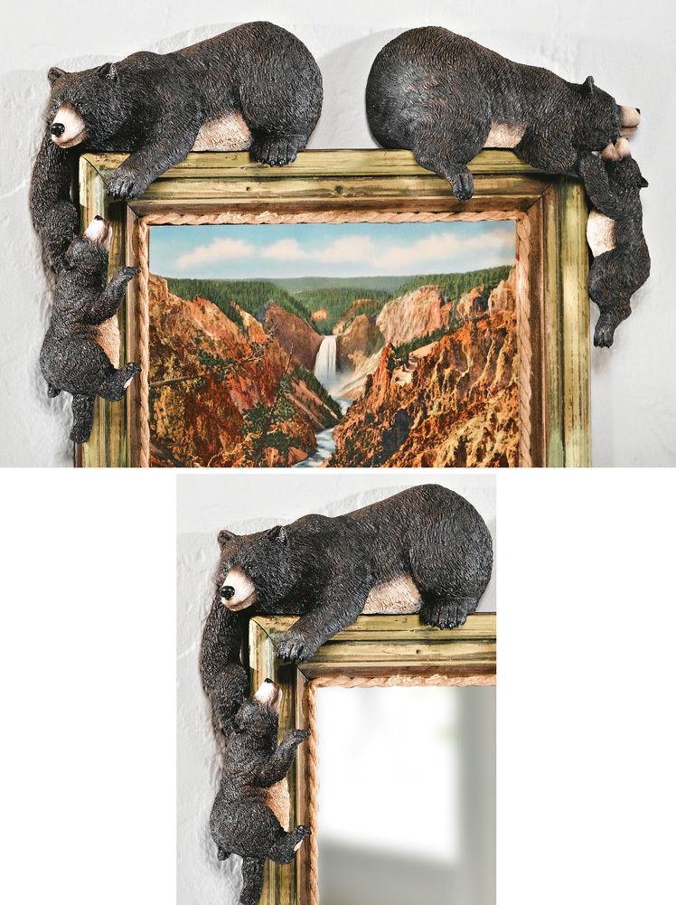 Welcome Black Bear Statue Figurine Cabin Lodge Decor New