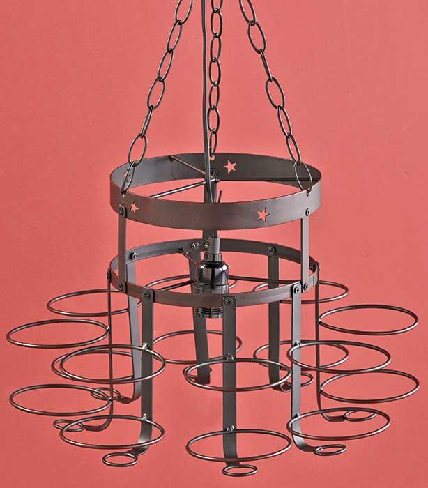 Rustic Industrial Lighting Chandelier Mason Jar Chandelier: Country Rustic Hanging Wrought Iron Mason Canning Jar