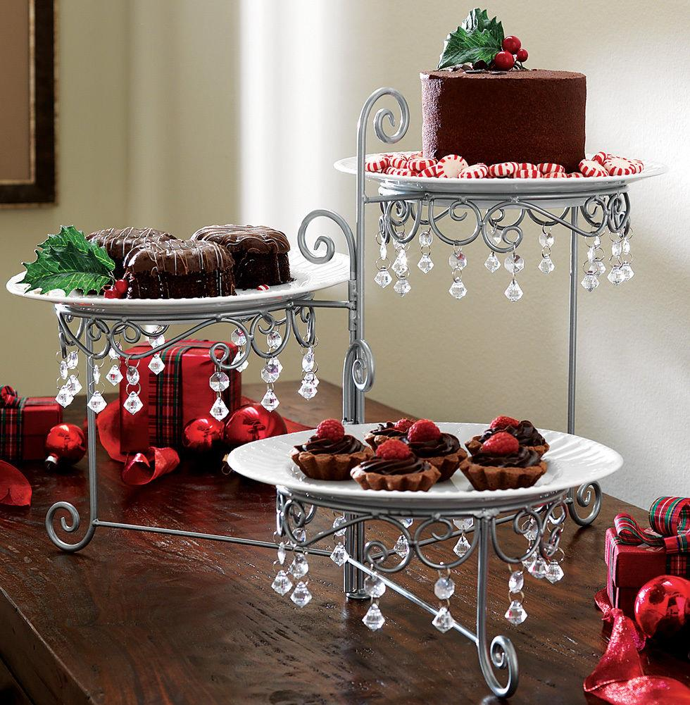 Birthday Table Presentation: 3 Tier Chandelier Buffet Display Stand Dessert Cake Plate