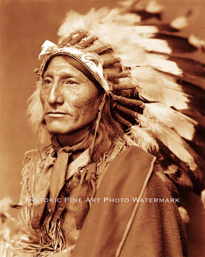 sioux indian chief whirling horse vintage photo native