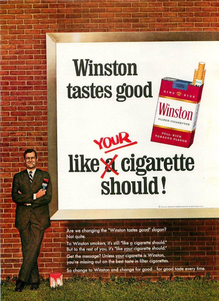 1966 Winston Cigarette Ad Billboard Like Your
