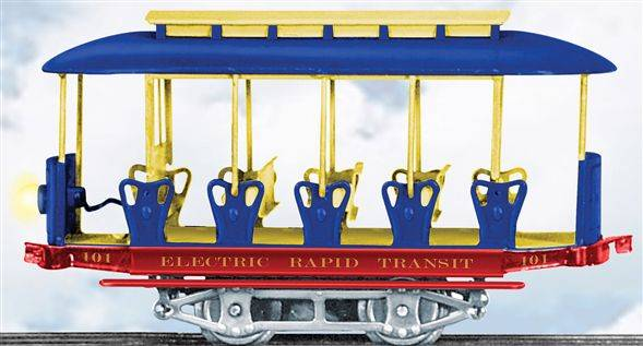 Lionel-Electric-Rapid-Transit-Summer-Trolley-and-Trail-Car-6-13113