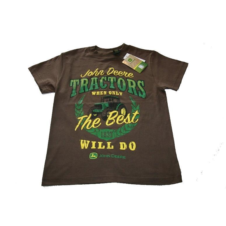 Nwt John Deere Boys Tee Shirt Brown 8 10 12 14 16 18