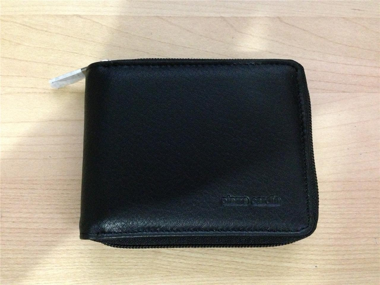 Pierre Cardin Leather Wallet Clip Coin Purse ZIP Closure ...