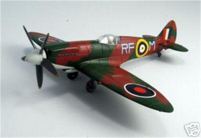 WWII RAF British Spitfire Aerial Combat Fighter Military display aircraft 1:48 scale