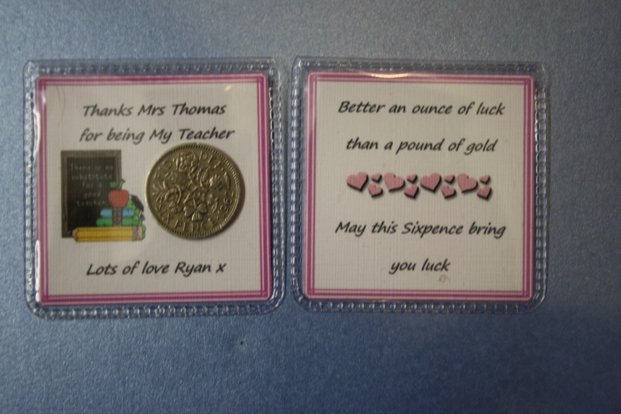 Personalised-THANKS-FOR-BEING-MY-TEACHER-LUCKY-SIXPENCE-Gift-Keepsake-Thank-you