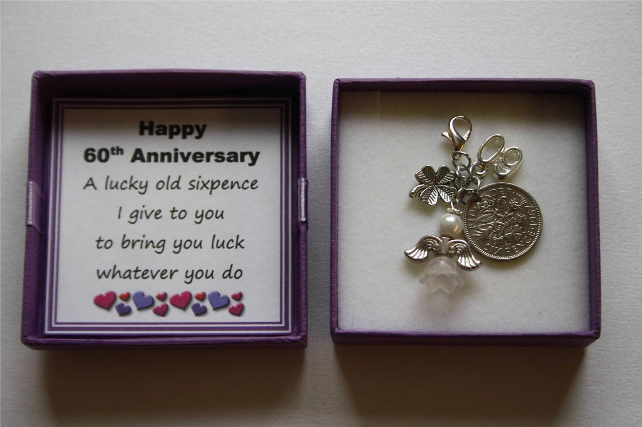Personalised Wedding Good Luck Gifts : PERSONALISED-Wedding-Anniversary-Good-Luck-Charm-Keepsake-Sixpence ...