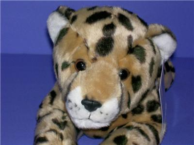TOYS R US ANIMAL ALLEY SPOTTED LEOPARD STUFFED PLUSH ANIMAL TAG