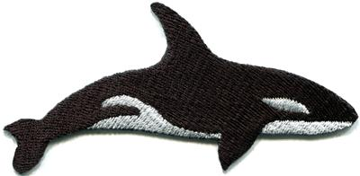Killer whale orca fish blackfish aquatic mammal applique for Does fish have iron