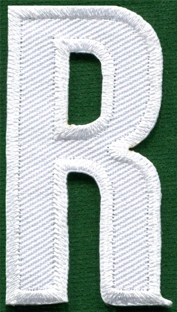 english alphabet letters white applique sew iron on patch
