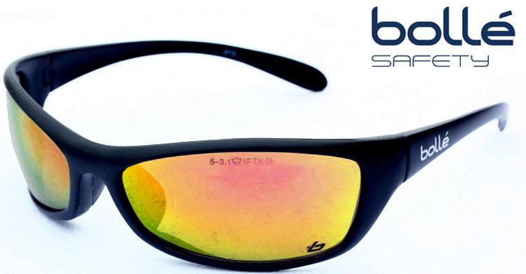 Occhiali da sole da uomo lenti specchio montatura nera bolle 39 surf ebay - Occhiali a specchio uomo ...