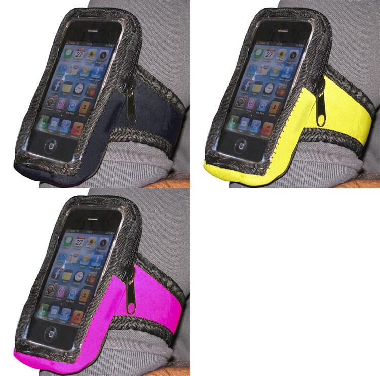 Fascia da braccio da corsa per smartphone iphone ipod con - Porta ipod da braccio ...